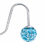 6mm Aquamarine Crystal Ball Pendant