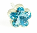 6mm Aquamarine Flower