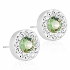 Brilliance Halo Crystal/ Erinite Earrings