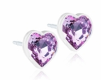 6mm Light Amethyst Heart