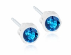 Medical Plastic Sapphire Earrings