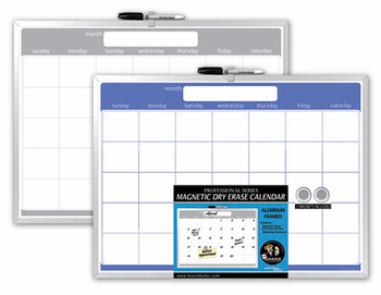 Aluminum Framed Magnetic Dry Erase Calendars 17x23