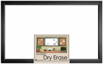 Black Framed Magnetic Dry Erase Board 22 x 35