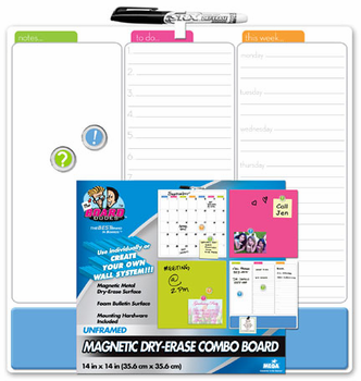 Magnetic Combo Board Tile 14x14