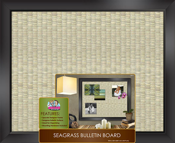 Sea Grass Bulletin Board - Black Framed 18 x 22
