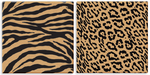 Unframed Canvas Cork Board Animal Prints - Zebra Leopard 14x14