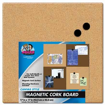 Unframed Magnetic Canvas Cork Boards 17x17