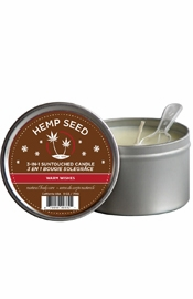 3 In 1 Suntouched Massage Oil Candle With Hemp Warm Wishes 6 Ounce