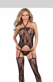 3-Piece Bustier - Thong - Thigh Highs