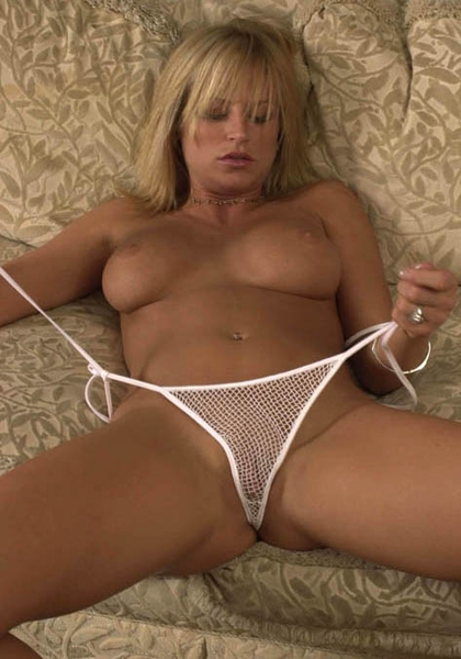 A Little Bit of Sin - Fishnet Tie Thong