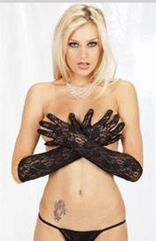Black Lace Finger Gloves - Sexy Lingerie
