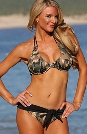 Black's Beach - Camo Print Belted Bikini - Regular Price $109.00