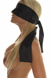 Blindfold, 100% polyester silk feel, double thick