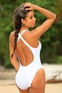 Bora Bora - Sheer White One Piece Swimsuit