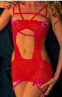 Broken Hart - Red Lace Chemise