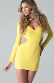 Bundchen Sexy Dress - Long sleeve mini dress