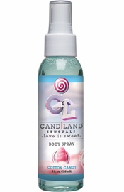Candiland Sensuals Flavored Body Spray Cotton Candy 4 Ounce