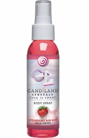 Candiland Sensuals Flavored Body Spray Strawberry Bon Bon 4 Ounce