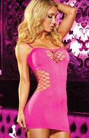 Club Relax - Hot Pink Micro Mini Dress