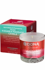 Dona Kissable Massage Candle Straw 7.5oz