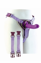 Double Ring Harness with Dong - Sex Toy