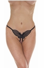 Fairy Butterfly - Sheer Crotchless Thong Panty