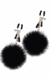 Fetish Fantasy Pom Pom Nipple Clamps Black