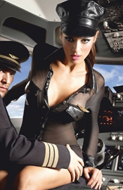 Fly First Class - Sexy Flight Attendant Costume