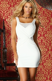 Free Fall - White Mini Dress