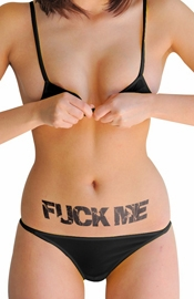 FUCK ME Temporary Tattoo Pack of Four