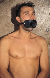 Gag with Open Urine Tube - 35 mm=1.4""