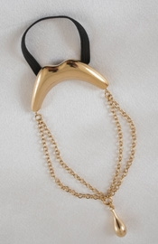 Go Deep - Men's Gold Kiss Penis Chain Bracelet with Pendant