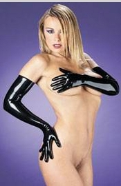 I Subdue You - Long Latex Gloves