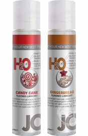 Jo Naughty Or Nice Flavored Waterbased Lube Gift Set Candy Cane And Gingerbread 1 Ounce Each 2 Set