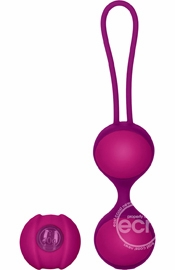 Key Mini Stella II Silicone Double Kegel Ball Set Pink