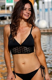 Lace Crop Top Bikini - Regular Price $79.00