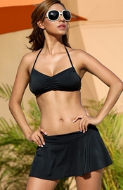 Laguna Beach - Black Skirted Swimsuit