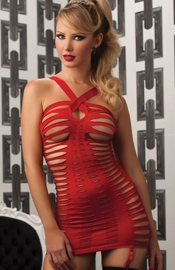Lusty Lady - Red Micro Mini Dress With Cutouts