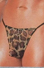 Men's Leopard G String