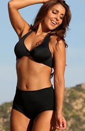 Mission Beach - Black Underwire Swimsuit