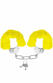 Neon Furry Cuffs Yellow