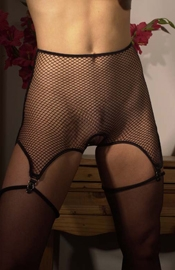 Net of Love - Sheer Open Back Garter Belt