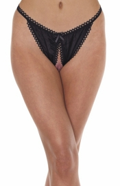 Perfection - Satin Crotchless Backless Panty