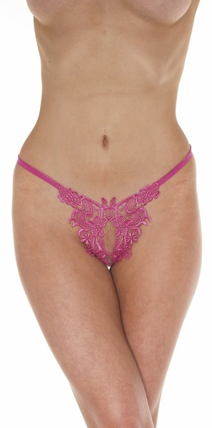The Angel -  Open Crotch G-String Panty