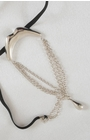 Pro Set - Men's Gold Kiss Waistband G String Penis Chain Bracelet with Pendant in Silver