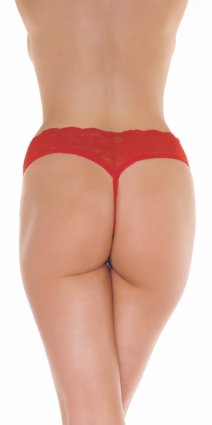 Ten Tiny Breaths - Lace Open Crotch G-String