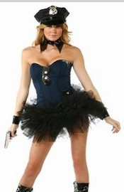 Sexy Women's Cops Robbers and Firefighter Costumes