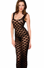 Sheer Checker Gown