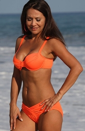 Shell Beach - Neon Orange Calypso Bikini
