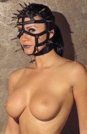 Spiked Face Mask with Open Straps